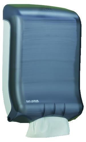 San Jamar Classic Ultrafold Multifold/C-Fold Paper Towel Dispenser, Black,