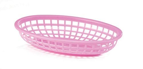 "Classic Oval Plastic Basket, 9-3/8"" x 6"" x 1-7/8"""