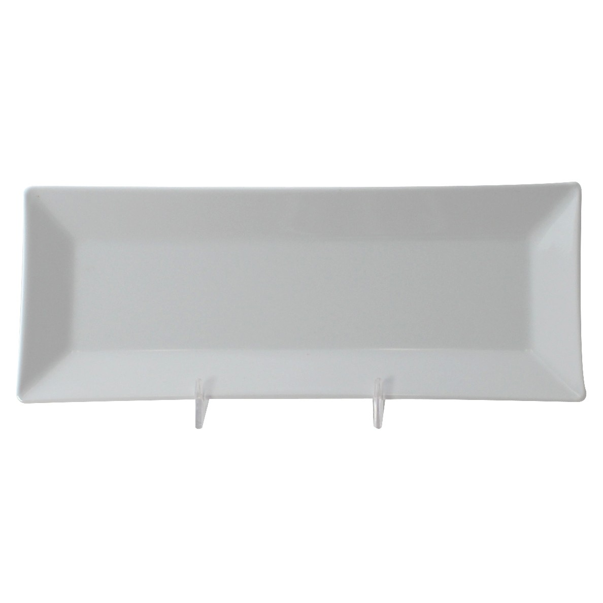 "Thunder Group 29110WT Classic White Melamine Rectangular Plate 10-1/4"" x 4"""