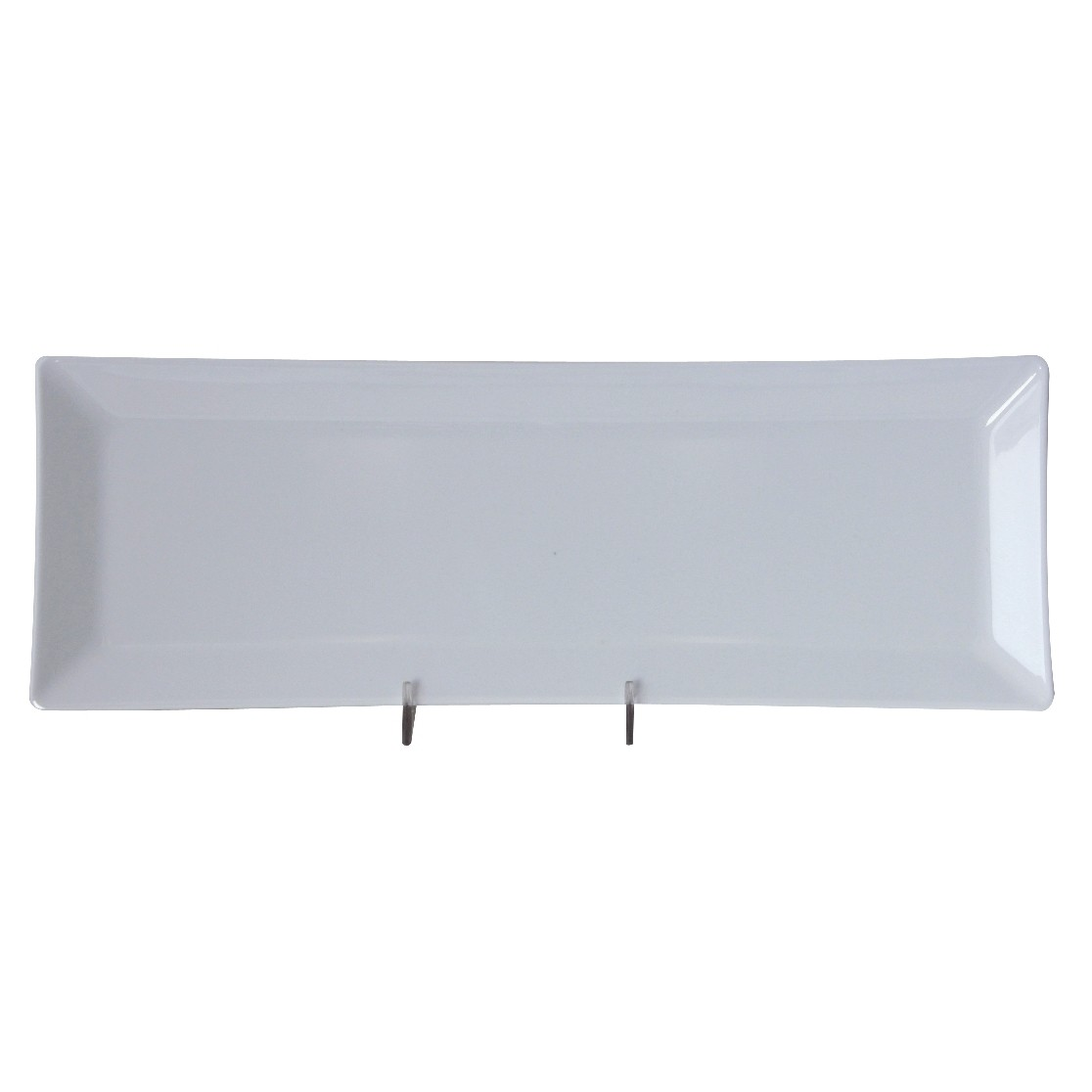 "Thunder Group 29115WT Classic White Melamine Rectangular Plate 15"" x 5-1/4"""