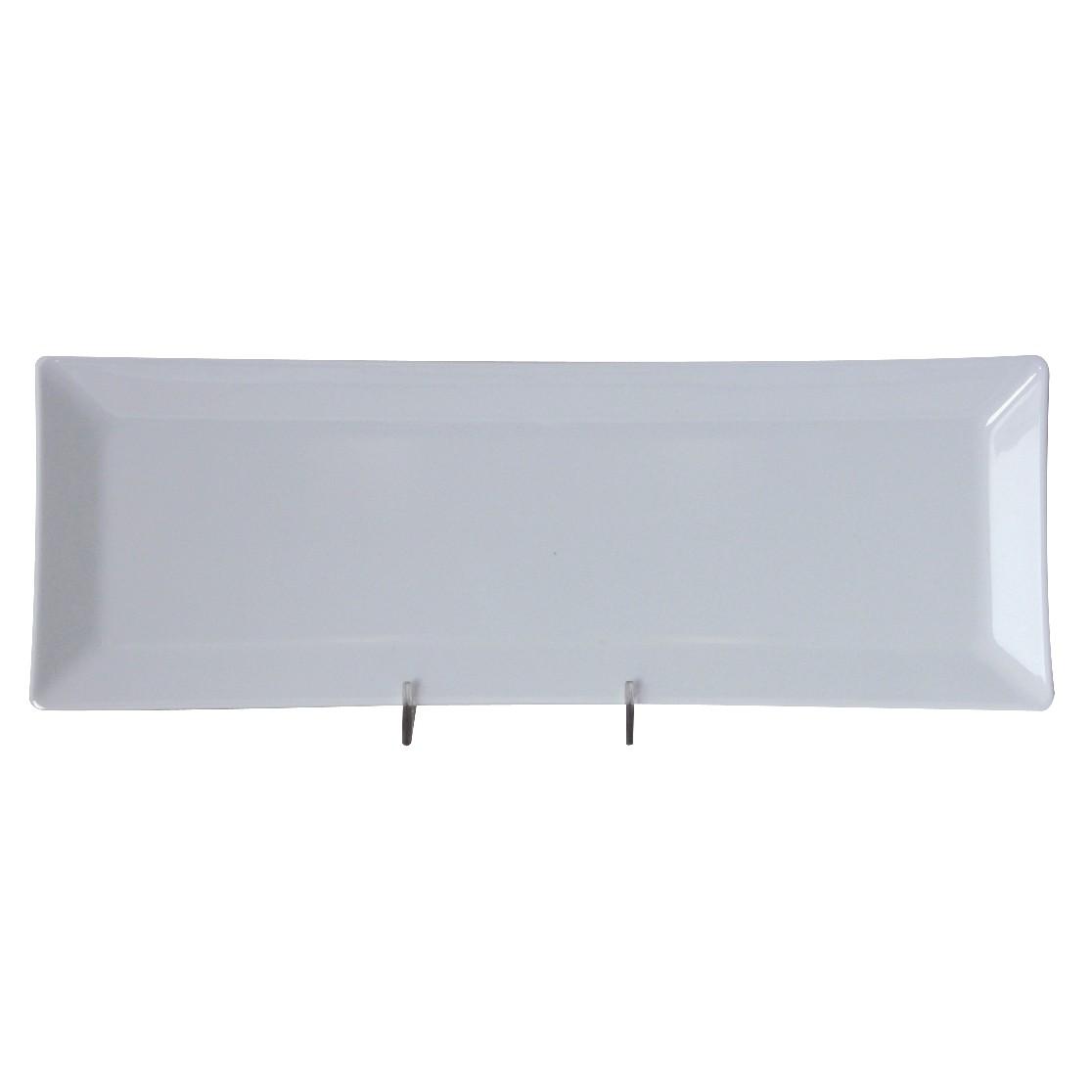 """Thunder Group 29115WT Classic White Melamine Rectangular Plate 15"""" x 5-1/4"""""""