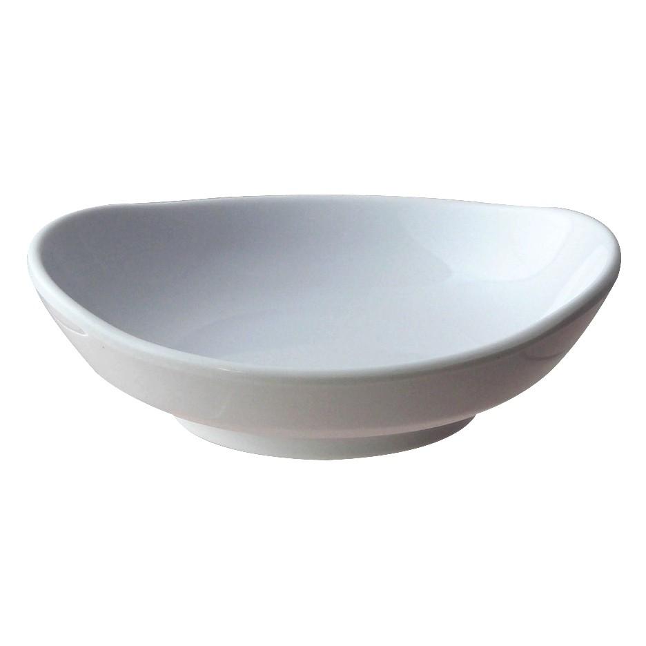 Classic White Melamine Round Saucer, 4-1/2