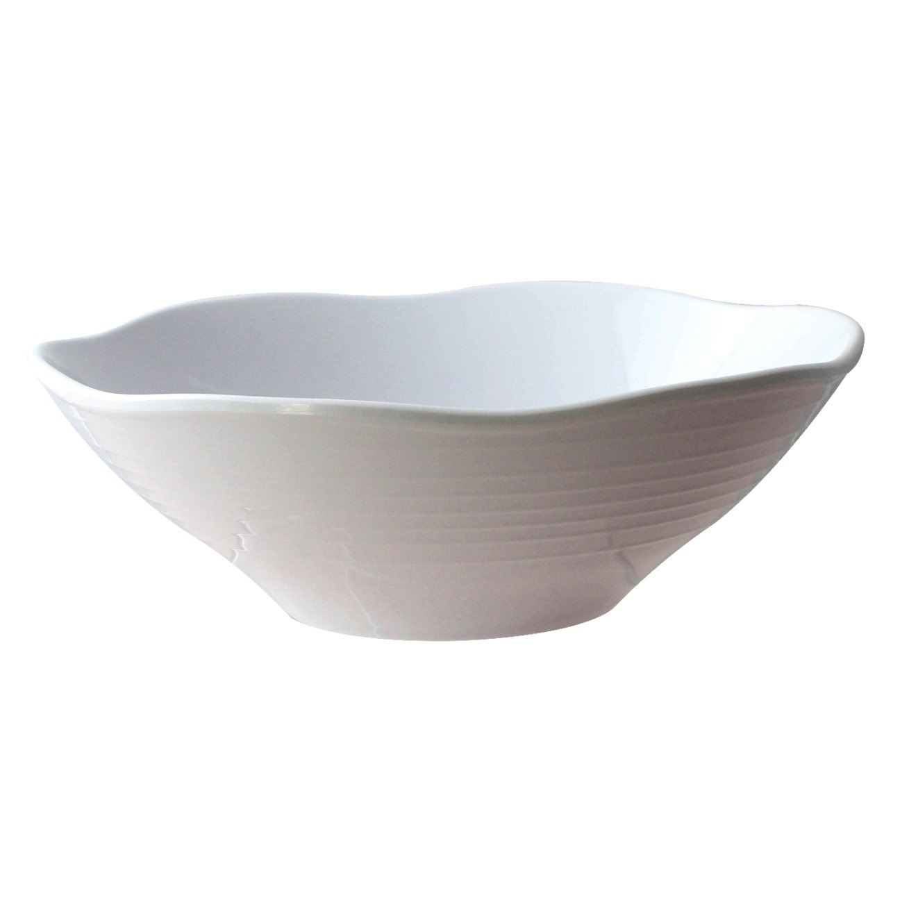 Thunder Group 39093WT Classic White Melamine Soup Bowl, 45 oz.