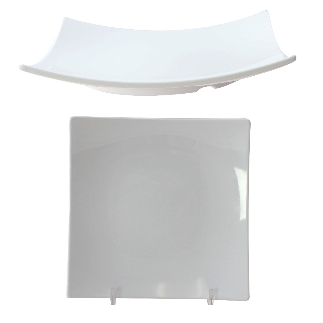 Classic White Melamine Flare Plate, 6