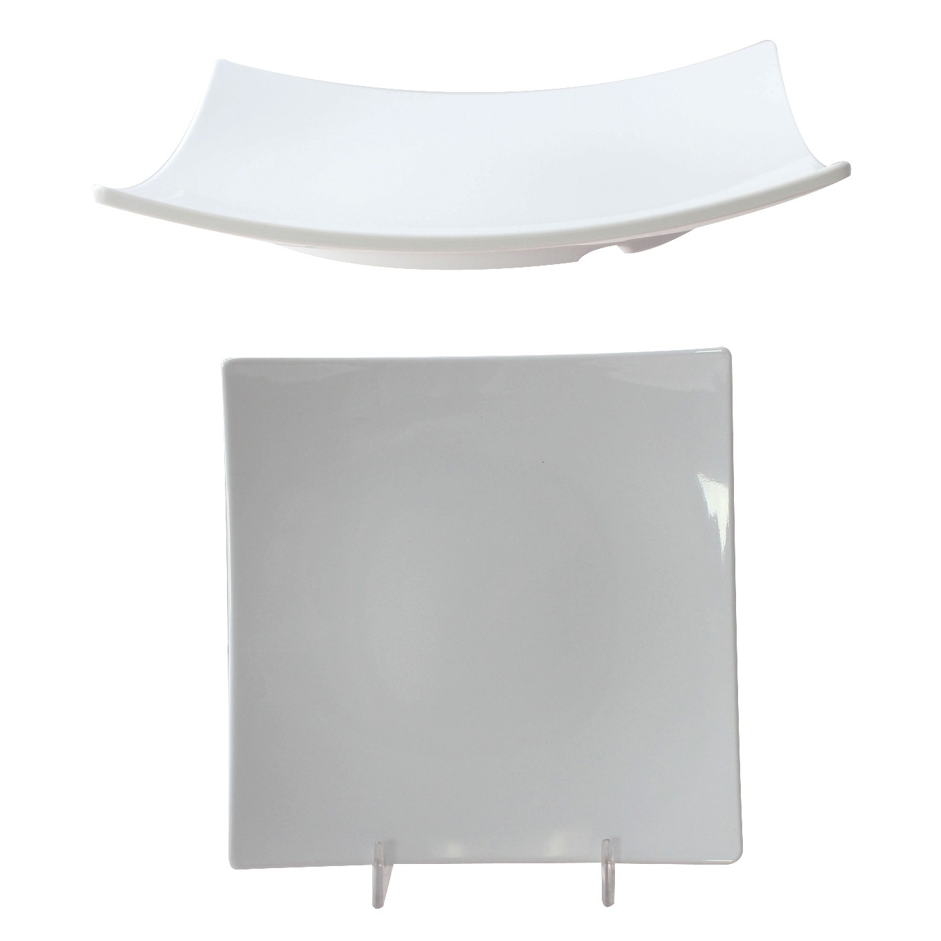 Classic White Melamine Flare Plate, 7-3/8