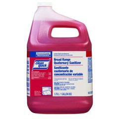 Clean Quick Quaternary Sanitizer, Sweet Scent, 1 Gallon 3/Carton