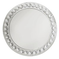 "Jay Import 1332638 Clear Beaded Glass 13"" Charger Plate"