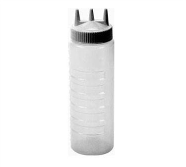 Franklin Machine Products  280-1402 Clear 24 oz. Tri-Tip Squeeze Dispenser