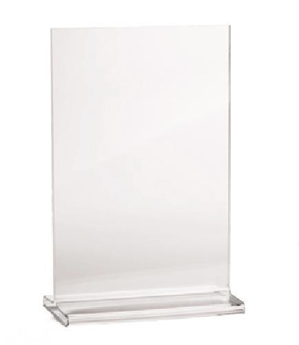 Clear Acrylic Table Tent Card Holder - 4