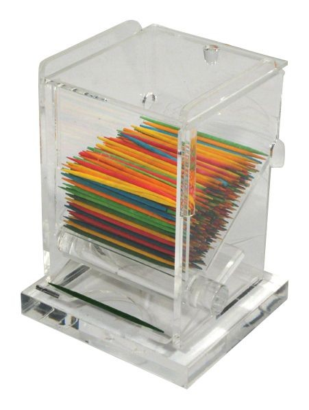 "Winco ACTD-3 Clear Acrylic Toothpick Dispenser 3"" x 2-1/2"" x 4"""