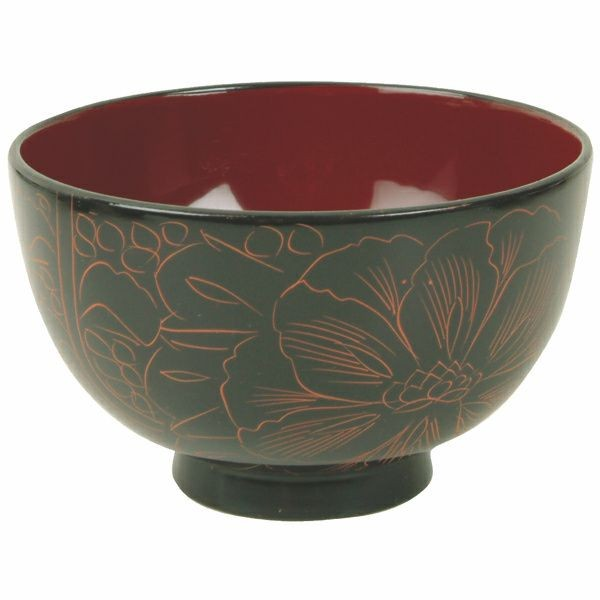 Thunder Group 45-2 Wood Rice and Miso Soup Bowl 10-1/2 oz.