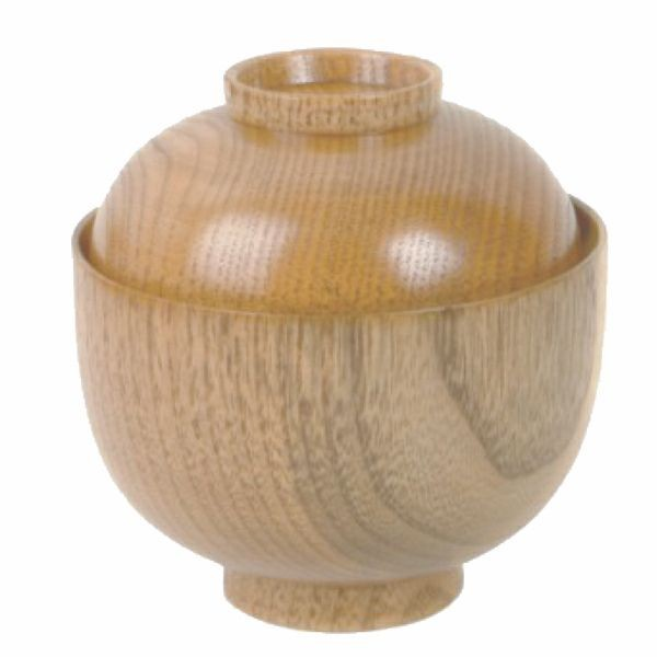 "Thunder Group 45-35 Wood Rice and Miso Soup Bowl, 9 oz. 3-3/4"" x 2-3/4"""