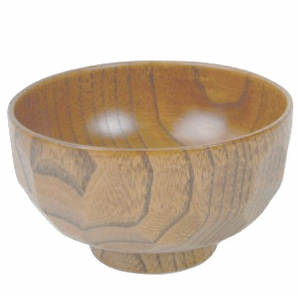 Thunder Group 45-36 Wood Rice and Miso Soup Bowl