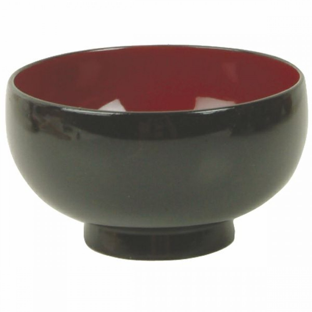 "Thunder Group 45-8 Wood Rice and Miso Soup Bowl 9 oz., 4"" x 2-1/2"""