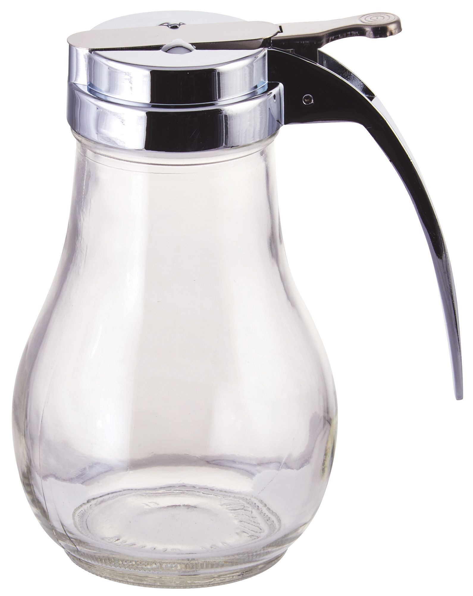 Winco G-116 Clear Glass 14 oz. Syrup Dispenser