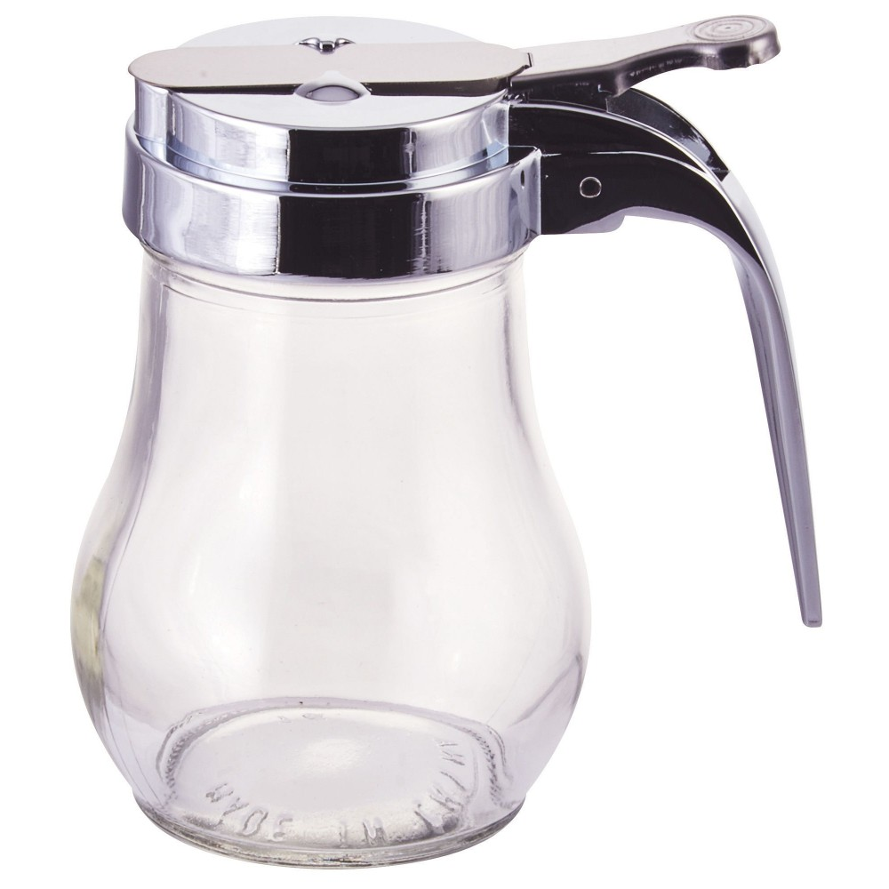 Clear Glass 6 Oz. Syrup Dispenser