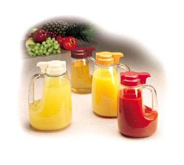 TableCraft L32Y Option 32 oz. Dispenser Jar with Yellow ABS Top