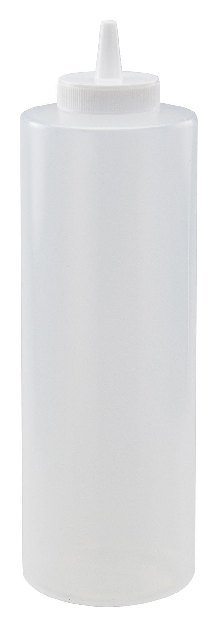 Winco PSB-24C Clear Plastic 24 oz. Squeeze Bottle