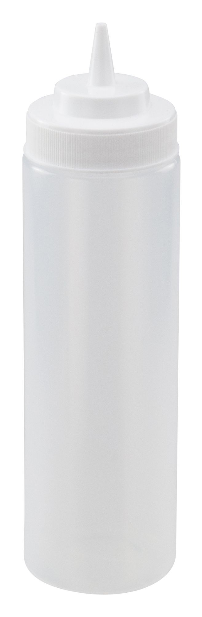 Clear Plastic 24 Oz. Wide-Mouth Squeeze Bottle