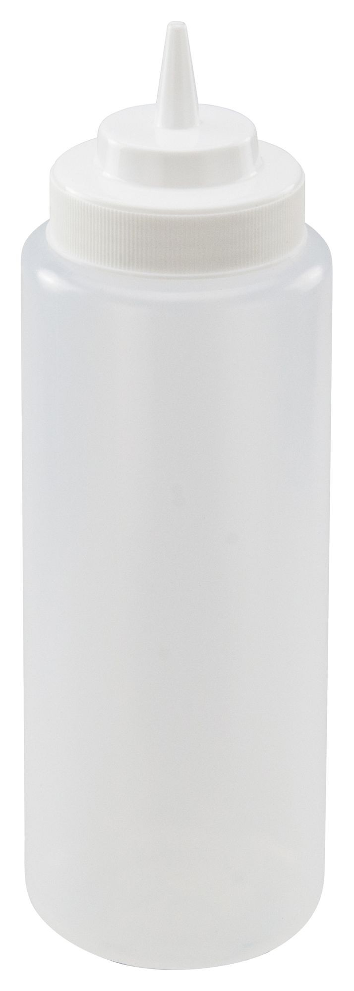 Winco PSW-32 Clear Plastic 32 oz. Wide-Mouth Squeeze Bottle
