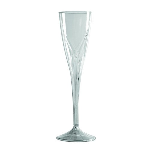 Clear Plastic 5 Oz. Champagne Flutes