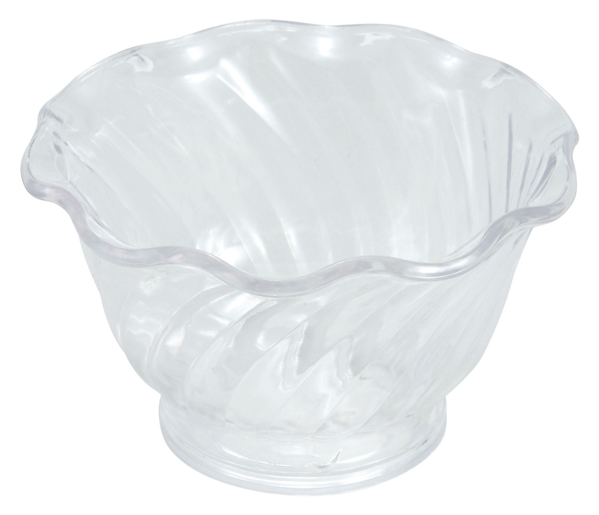 Winco ICC-5C Clear Plastic 5 oz. Ice Cream/Berry Dish
