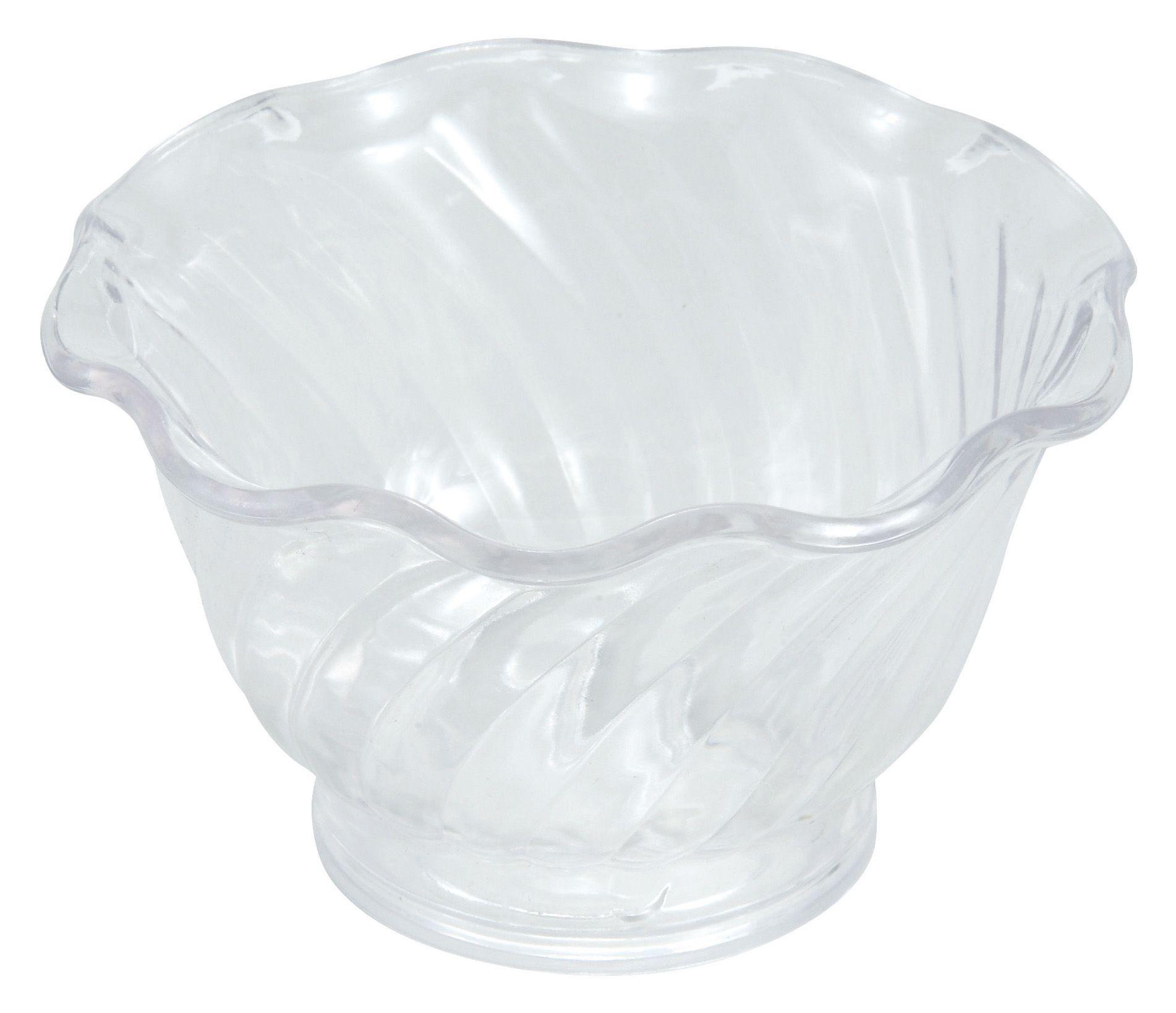 Winco ICC-5C Clear Plastic 5 oz. Ice Cream/Berry Dish