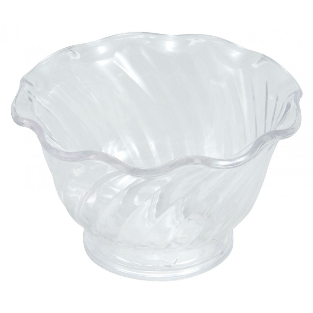Clear Plastic 5 Oz. Ice Cream/Berry Dish