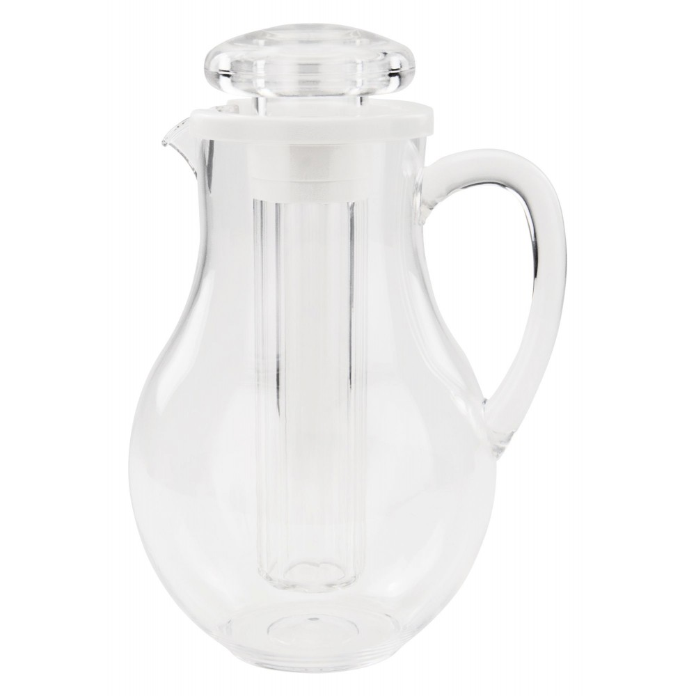 Clear Plastic 64 Oz. Polar Pitcher With Ice Chamber