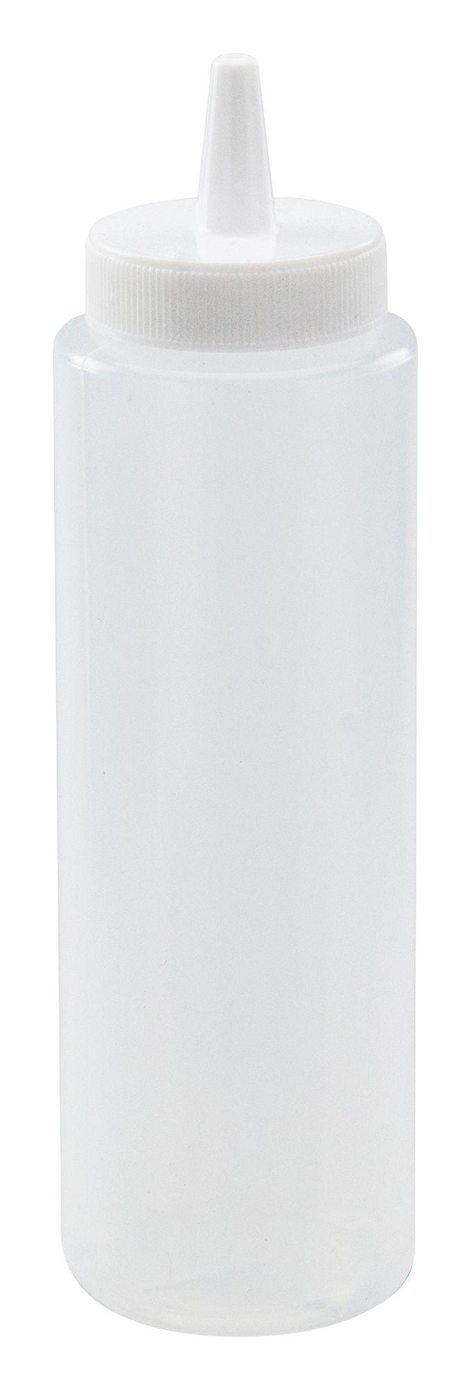 Winco PSB-08C Clear Plastic 8 oz. Squeeze Dispenser
