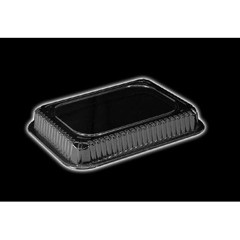Clear Plastic Dome Lid, Rectangle, Fits 1 Pound Oblong Pan