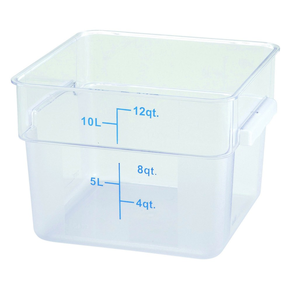 Clear Polycarbonate 12 Qt. Square Food Storage Container