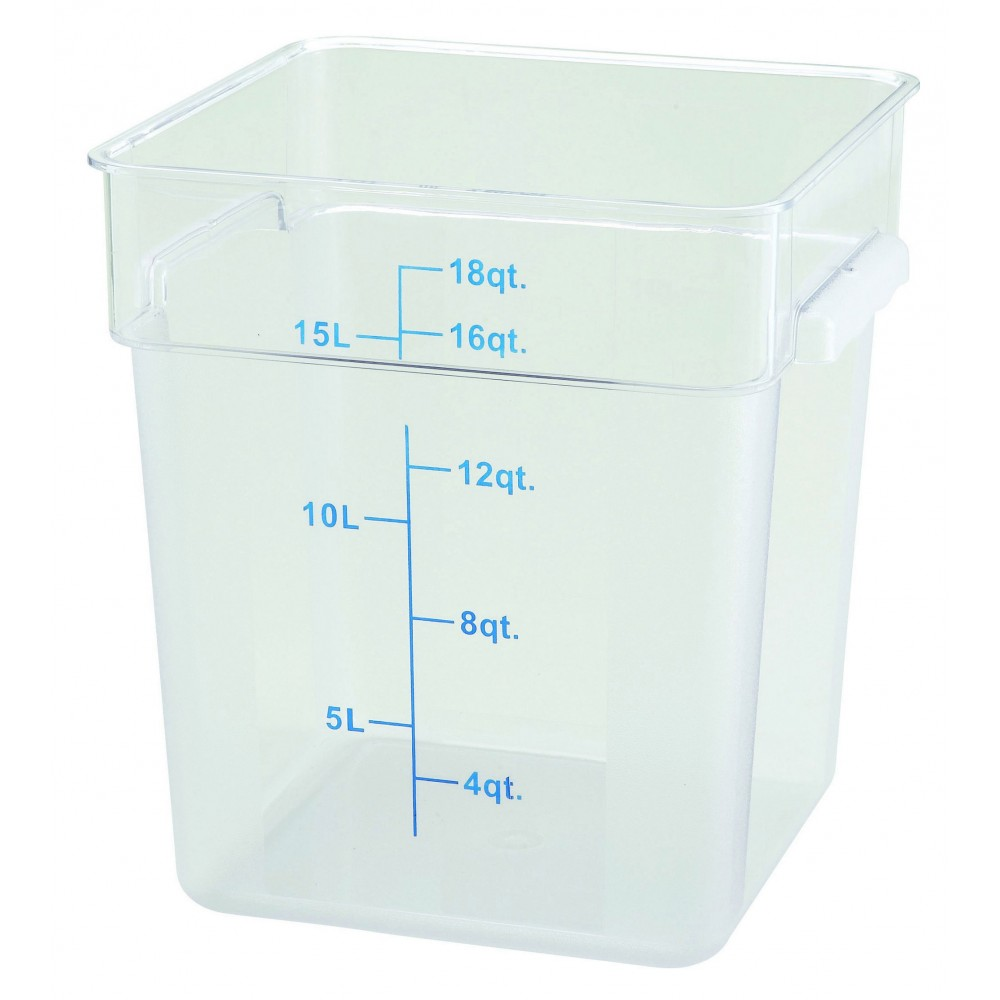 Clear Polycarbonate 18 Qt. Square Food Storage Container