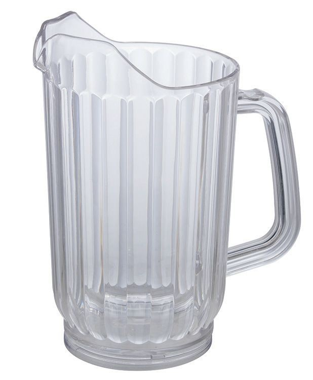 Winco WPC-32 Clear Polycarbonate 32 oz. Water Pitcher