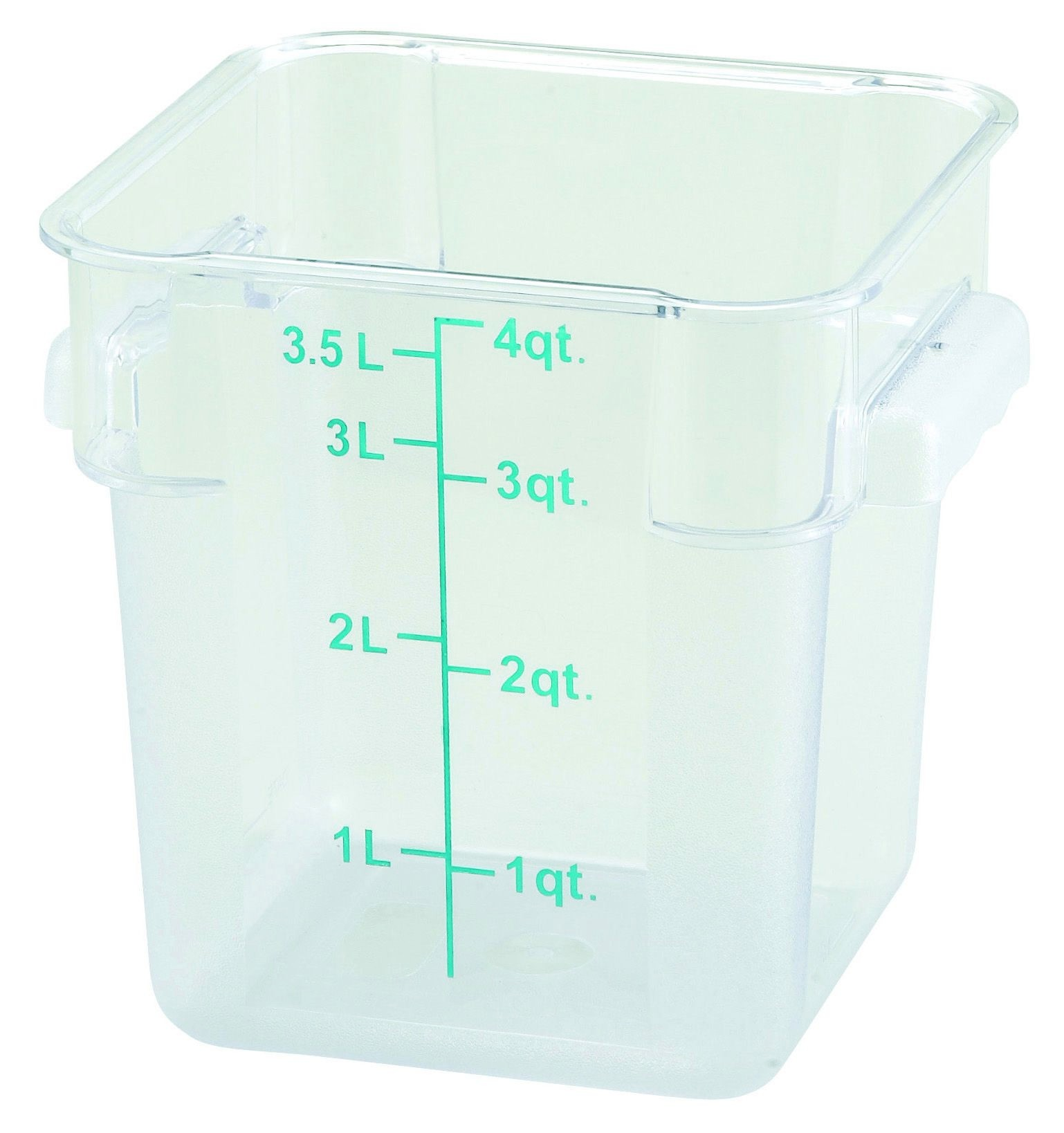 Winco PCSC-4C Polycarbonate Square Food Storage Container 4 Qt.