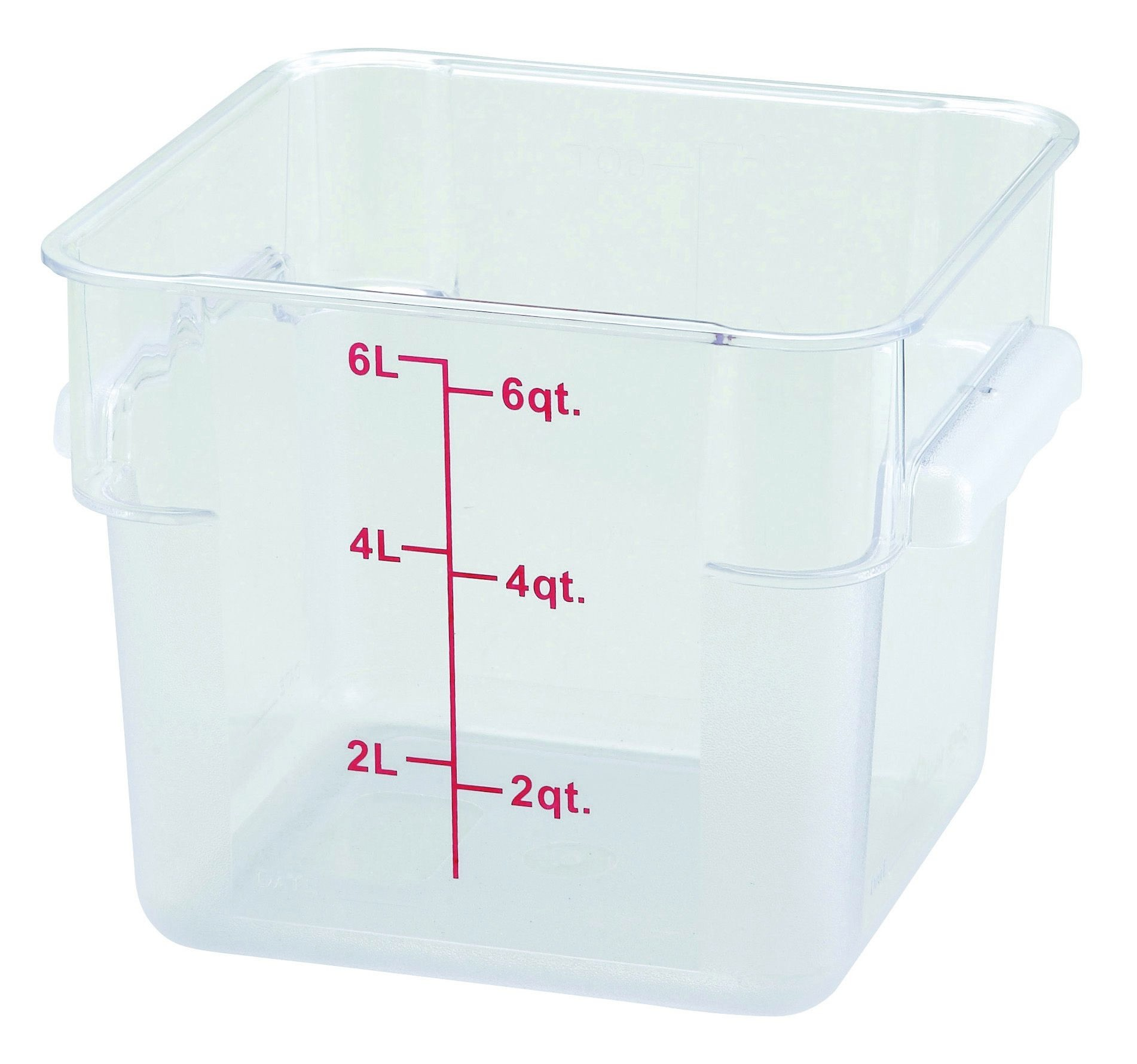 Winco PCSC-6C Polycarbonate Square Food Storage Container 6 Qt.