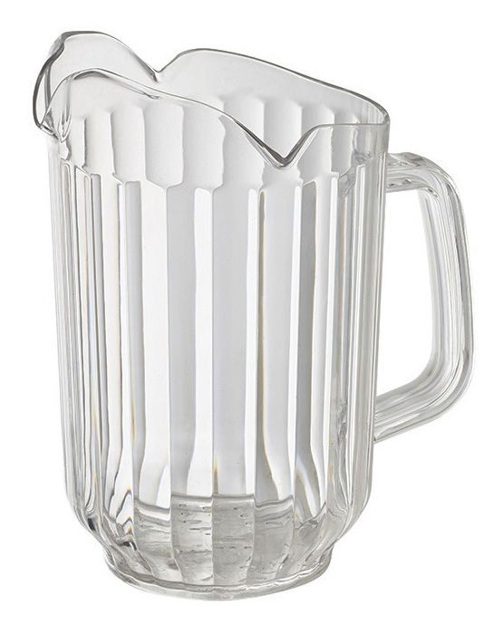 Winco WPCT-60C Clear Polycarbonate 60 oz. 3-Spout Water Pitcher
