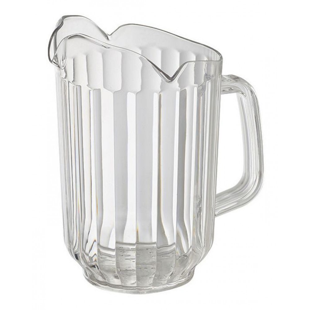 Clear Polycarbonate 60 Oz. 3-Spout Water Pitcher