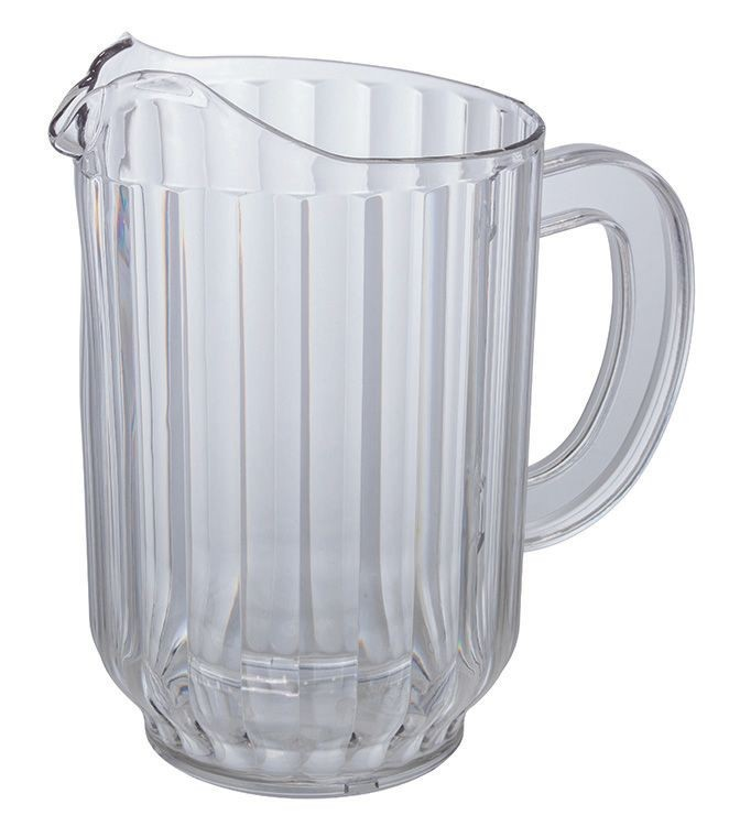 Winco WPC-60 Clear Polycarbonate 60 oz. Water Pitcher