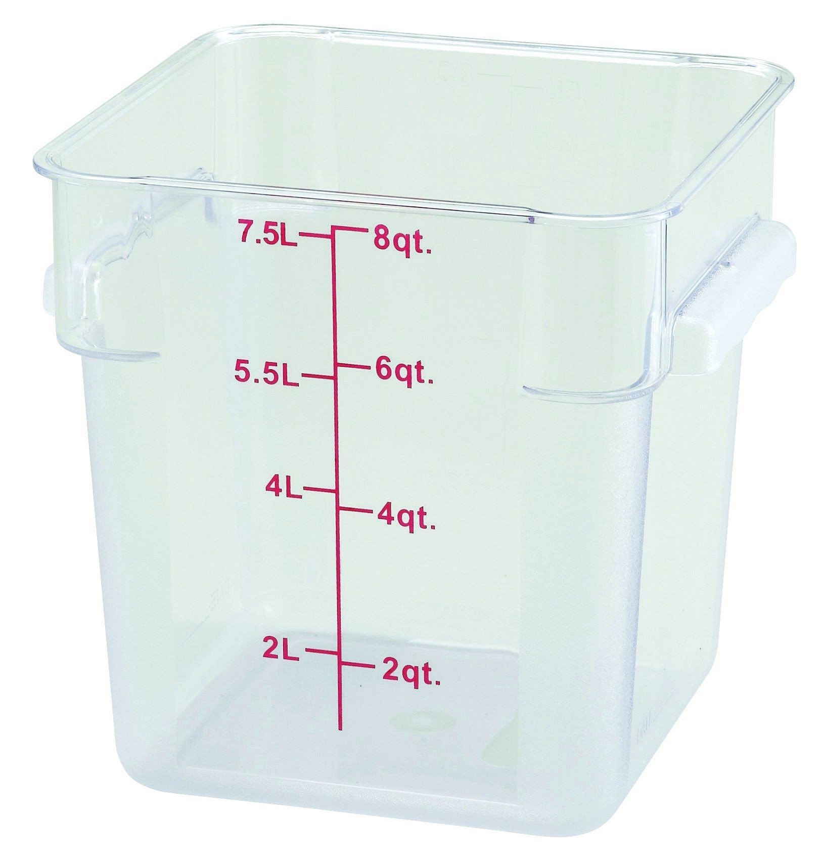Winco PCSC-8C Polycarbonate Square Food Storage Container 8 Qt.