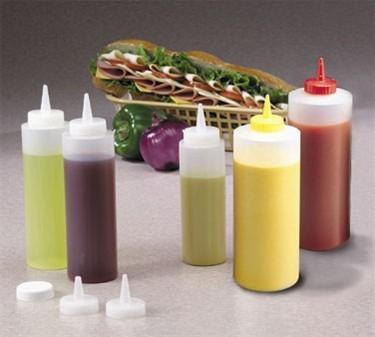 Clear Polyethylene 12 Oz. Standard-Tip Squeeze Bottle- Standard Mouth