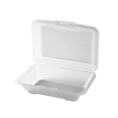 "G.E.T. Enterprises EC-04-1-CL Eco-Takeouts 9"" x 6-1/2"" Half Size Food Container"
