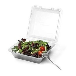 "G.E.T. Enterprises EC-02-1-CL Eco-Takeouts Single Entree Clear Food Container 9"" x 9"""