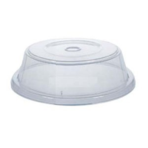 """G.E.T. Enterprises CO-95-CL Clear Reusable Plate Cover for 10.4"""" 11.15'' Round Plate"""