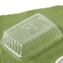 Clear Polystyrene Disposable Dome Lid for Bauscher #195812 (1000 pieces/cs)