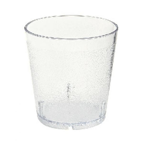 G.E.T. Enterprises 6610-1-2-CL Clear SAN Plastic 10 oz. Textured Tumbler