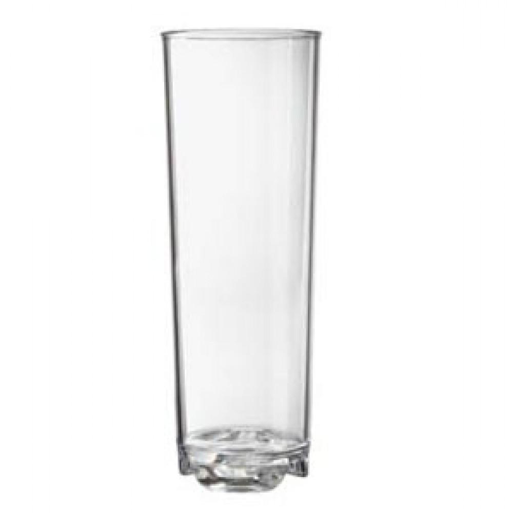 G.E.T. Enterprises SW-1444-1-CL Clear SAN Plastic 12 oz. Beverage Glass