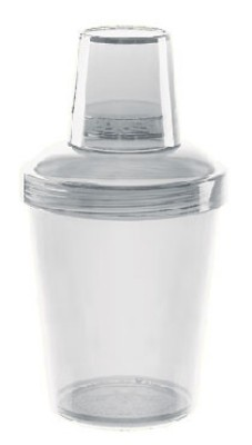 G.E.T. Enterprises SH-176-1-CL Clear SAN 20 oz. 3 Piece Shaker Set