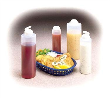 TableCraft 2124C-1 Clear 24 oz. Squeeze Dispenser with Flip Lid