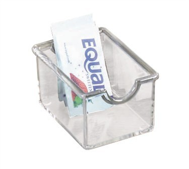 TableCraft 56C Clear Styrene Plastic Sugar Packet Holder